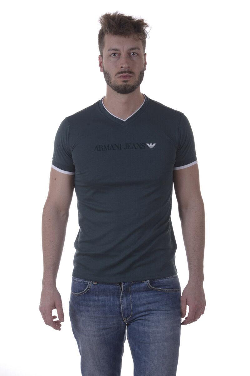 T shirt Maglietta Armani Jeans AJ Sweatshirt Cotone herren Grün 3Y6T306JPRZ 1854