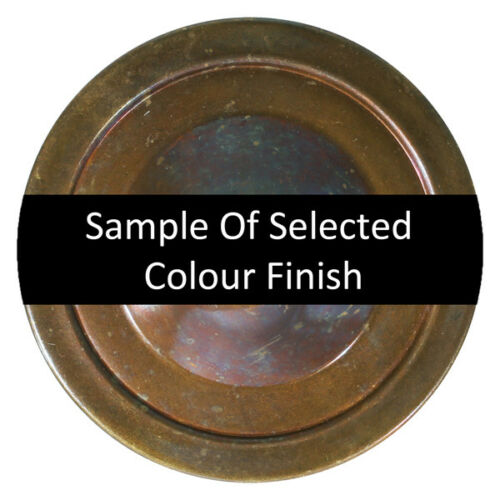 nine colour finishes available Ceiling rose with cord grip 8cm