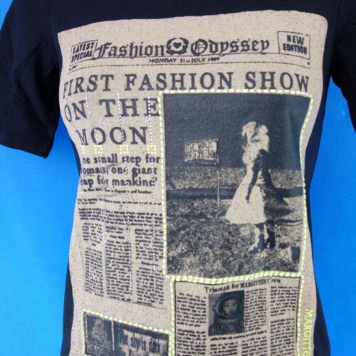 Margittes Damen Shirt Oberteil Gr 36 S 38 M 40 L Straß Print Schwarz NP 99 Neu