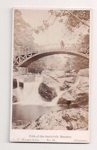 Vintage-CDV-Falls-of-the-Garrawalt-Braemar-G-W-Wilson-Photo-Aberdeen