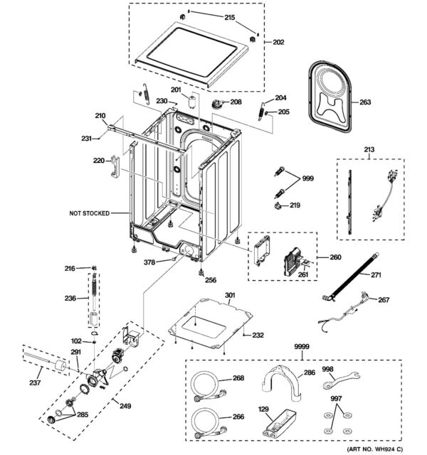 Wh46x10231 Ge Leg Leveling Assembly