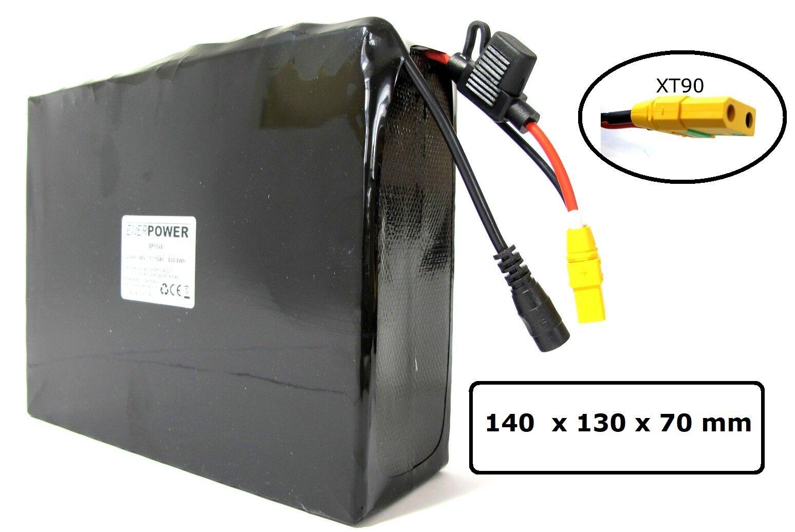 ENERpower Softpack Akku Li-Ion 36V 10S4P 35E 13,8Ah Pedelec eFahrrad DiY 7x6 DC
