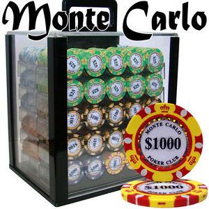 1000 14g monte carlo casino clay poker chips hotel casino 2000 mondorf les bains luxembourg