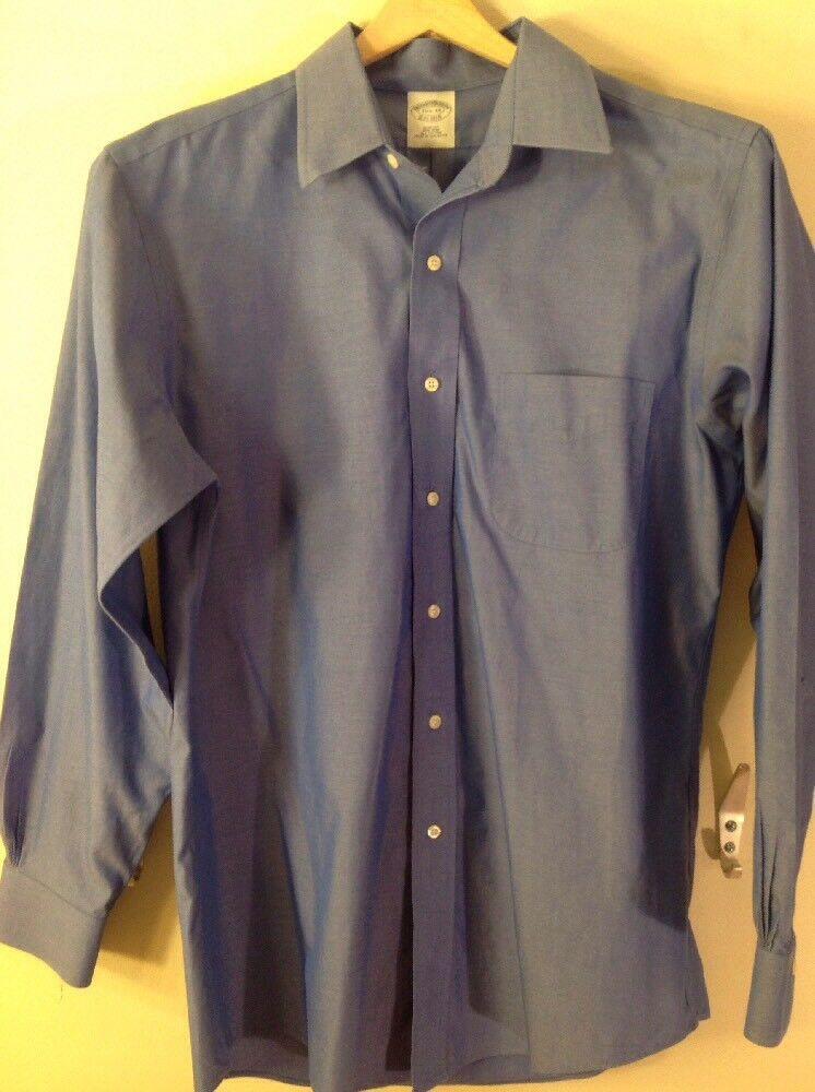 Men's 15 1 2 33 Brooks Bredhers slim fit bluee shirt