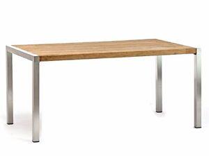 Esstisch Destiny Tisch Macao 160 X 90 Edelstahl Teak Klapptisch