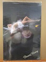 Vintage 1985 Beauty Rising Original Hot Girl Classic Car Poster 12024
