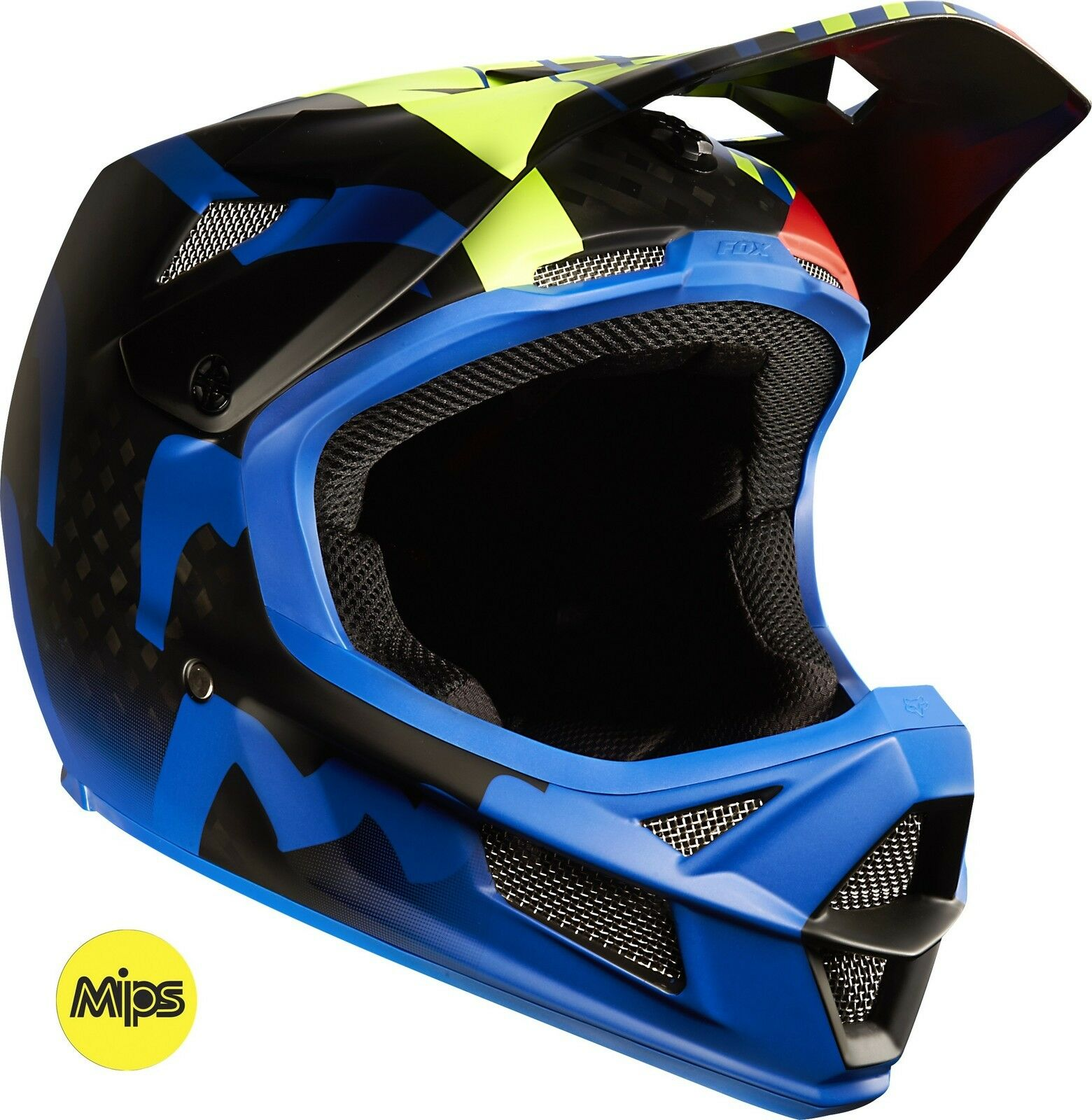 Fox Racing Rampage Pro Carbono MIPS Casco Savant Azul