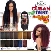Freetress Equal Cuban Twist Braid Double Strand Style 16 Braiding Hair