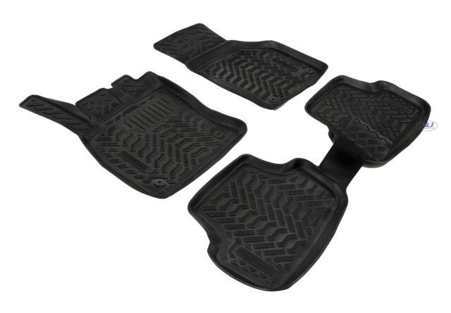 3D EXCLUSIVE TAPIS DE SOL EN CAOUTCHOUC pour VW GOLF 7 VII 2012 - prés NOIR 4pcs