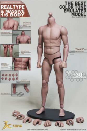 1//6 Scale Asian Male Muscular Body JXS01 for Hot Toys TTM22 Worldbox AT011