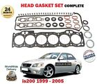 FOR LEXUS IS200 2.0 1/1999-12/2005 NEW CYLINDER HEAD GASKET SET OE QUALITY