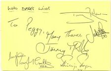 Who Dares Wins cast signed autograph page 1980s comedy sketch show Tony Robinson