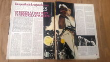 GRACE JONES 'motorcycle' 2 page ARTICLE/clipping from Joepie Belgian magazine