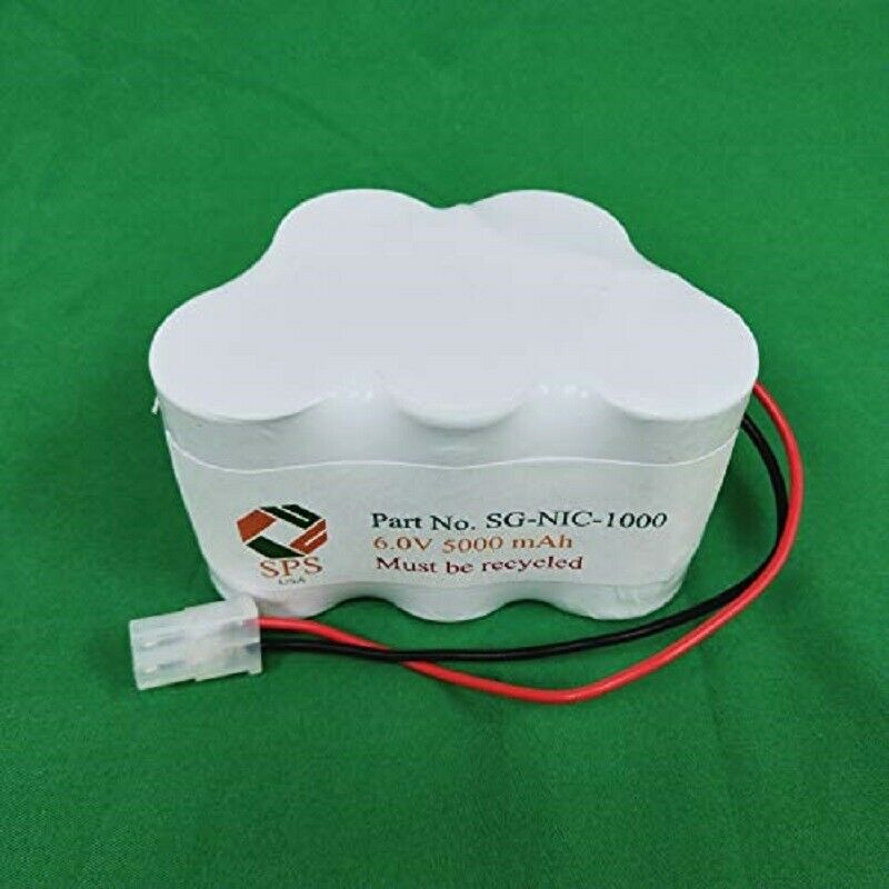 SPS Brand 6V 5000 mAh Replacement Battery SG-NIC-1000