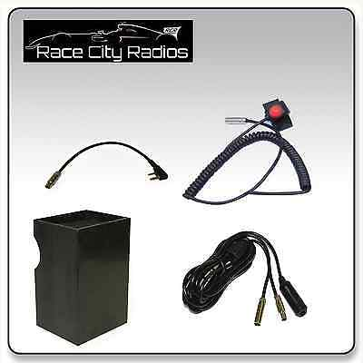 Velcro Mount PTT Switch IMSA Racing Car Wiring Kit  KENWOOD Radio Box