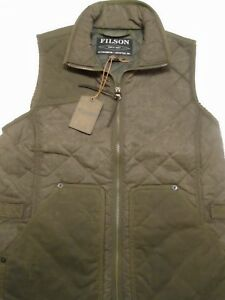 Filson-Women-039-s-Cotton-Quilted-Field-Vest-NWT-Small-Made-in-USA-245-Otter-Green