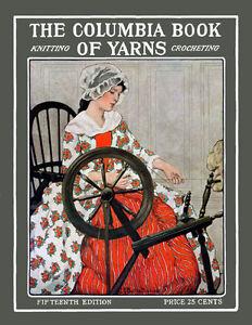 Columbia-Knitting-amp-Crochet-Manual-15-c-1914-HUGE-Book-of-Vintage-Patterns