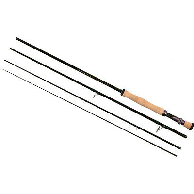 """BAG NEW TFO TEMPLE FORK OUTFITTERS BVK TF08904B 9/' 0/"""" #8 WEIGHT 4 PIECE FLY ROD"""