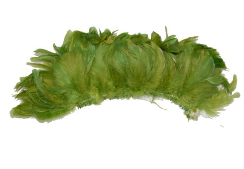"100 Pcs ROOSTER Coque Fringe Trim//Costume//Halloween MOSS 4-6/"" Feathers"