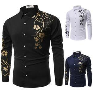 T-shirt formal long sleeve slim fit dress shirt luxury stylish men/'s casual tops