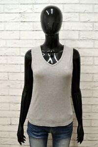 Maglia-CHAMPION-Donna-Taglia-Size-L-Maglietta-Canotta-Shirt-Woman-Cotone-Slim
