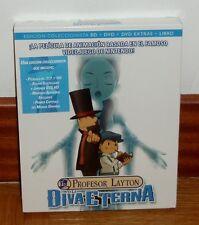 EL PROFESOR LAYTON Y LA DIVA ETERNA-COMBO BLU-RAY+2 DVD+LIBRO-NUEVO-PRECINTADO