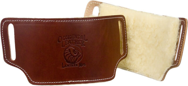 """Occidental Leather 5006 10"""" x 6"""" Sheepskin Lined Leather Pro Carpenters Hip Pads"""