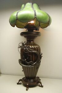 Image Is Loading ANTIQUE CHINESE JAPANESE BRONZE MEIJI KEROSENE OIL ART