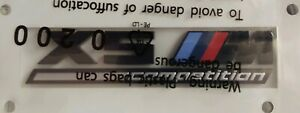 BMW OEM F95 X5 M Competition Center Console Emblem Badge Factory Brand New