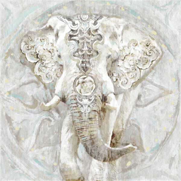 Edvard Selkirk  Ivory Elephant I Keilrahmen-Bild Leinwand Elefant Afrika modern