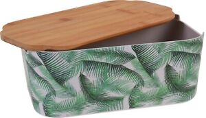 Floral-Green-Bamboo-Bread-Bin-Bread-Crock-With-Lid-as-a-Chopping-board