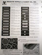 1958 MELRATH Supply & Gasket Company ASBESTOS Ad