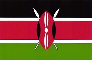 Postcard National Flag of Kenya Maasai Shield and Spears Matt Matte Finish S75