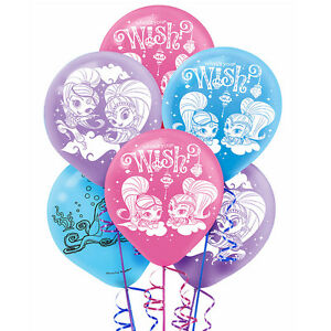 Image Is Loading Shimmer And Shine Genies Latex Balloons Birthday Party