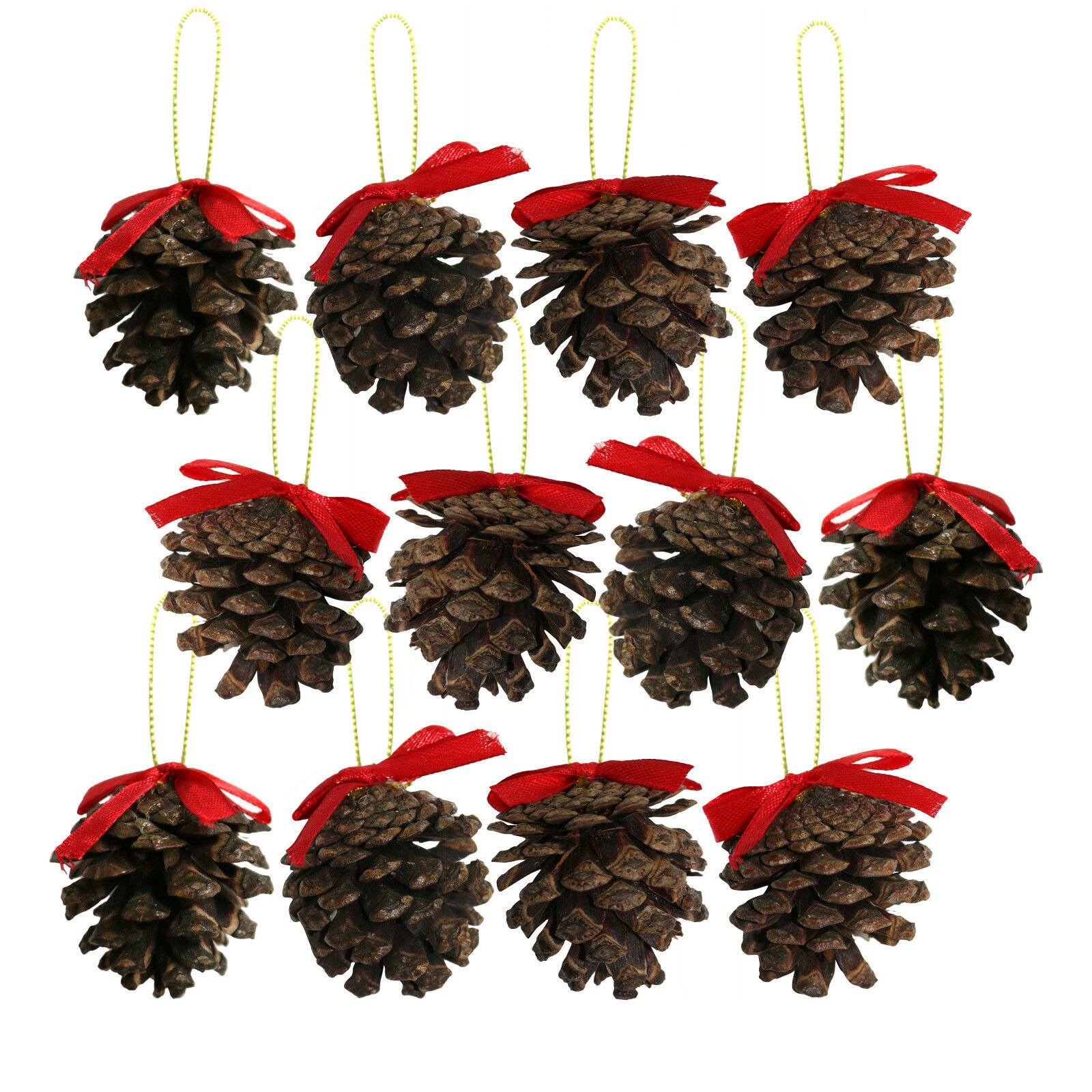 Pine Cones Natural Fir Christmas Hanging Tree Decoration Craft Ornaments Pendant