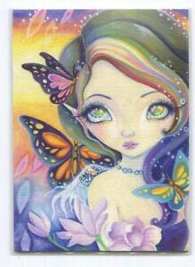 ACEO S/N L/E WINTER PIXIE GIRL RAINBOW SPIRITUAL HAIR GARDEN FANTASY RARE PRINT