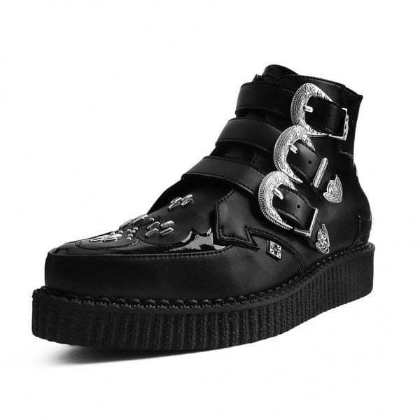 T.U.K. shoes Black TUKskin™ Western Pointed Boot