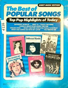 The Best of Popular Songs Sheet Music Song Book 1979 116a