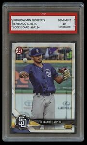 FERNANDO-TATIS-JR-2018-BOWMAN-PROSPECTS-Topps-1ST-GRADED-10-ROOKIE-CARD-PADRES