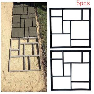 5X Quadrat DIY Gießformen Schablone Form Betonpflaster Gehweg Pflasterform Top