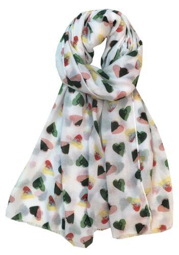 CUORE Stampa Grande Celebrita /'Moda Sciarpa Wrap Scialle Maxi Sarong