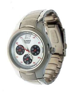 91d15646d935 NEW Casio Edifice Men s watch EF-307 Stainless Steel 3 Eye 100M ...