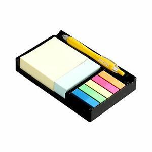 Escritorio-Soporte-de-Lapicera-amp-Auto-Adhesivo-Notas-Ordenado-Papel-Colores-Tabs