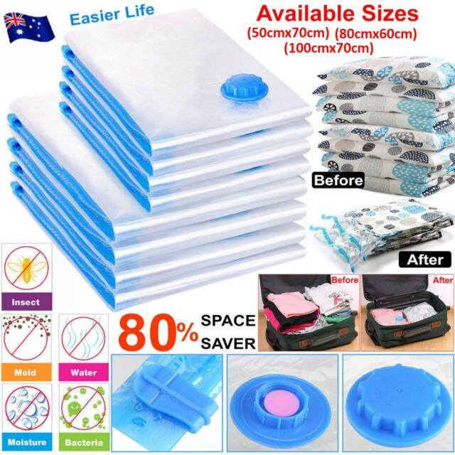 Vacuum Storage Bag Space Saver Seal Compressing Medium Large Jumbo Saving Expert