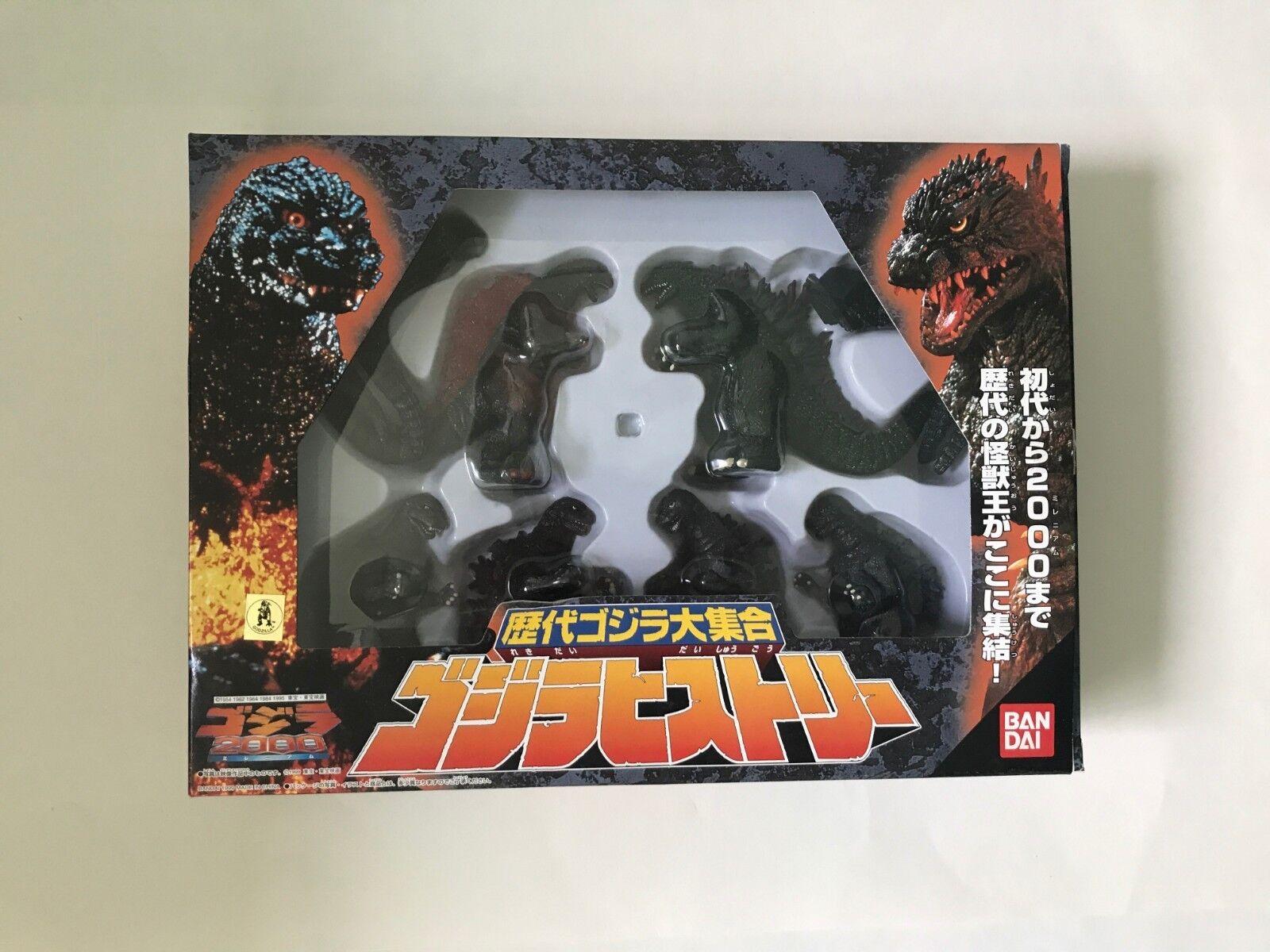 Bandai Godzilla Hiberättelse låda Six Vinyl Figur Set