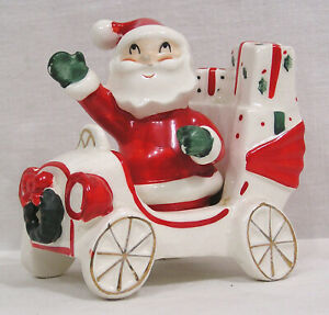 Vintage NAPCO Ceramics Santa & Car S&P #3BX3781 Japan 1959