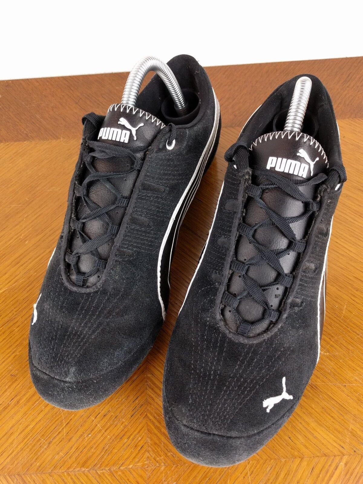 Puma Black Sport Suede Lace Up Shoes Size Sport Black Lifestyle Athletic Sneakers a5d09e