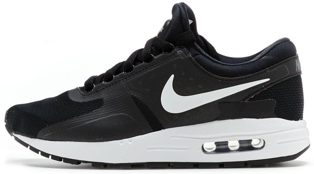 Nike Air Max Null ESSENTIAL GS Turnschuhe Schwarz, dunkel grau & weiß 881224 002