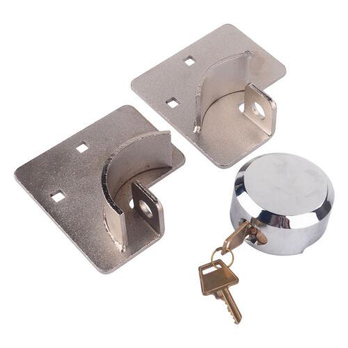 HEAVY DUTY 73MM ROUND PADLOCK AND HASP SET SECURITY DOOR GARAGE SHED VAN LOCK UK