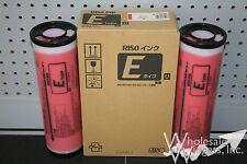 2 Genuine Riso S-7199 Bright Red Ink Risograph S-4263 EZ MZ RZ 590 790 990 1090